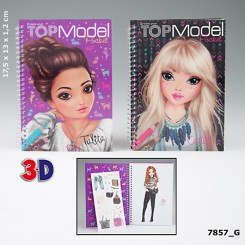 TOPModel 3D Lommemalebog
