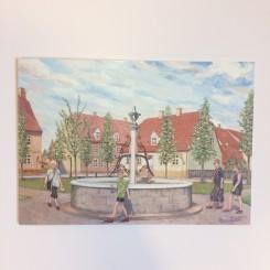 Stort dobbelt kort - Kirkepladsen i Christiansfeld
