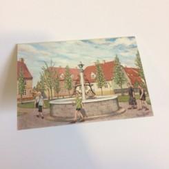 Lille dobbelt kort - Kirkepladsen i Christiansfeld