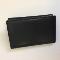 Klassisk læderpung t/3 kreditkort - Sort