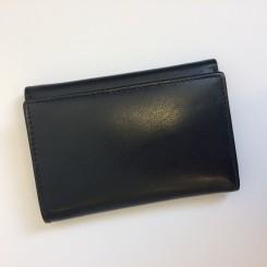 Klassisk læderpung t/6 kreditkort - Sort