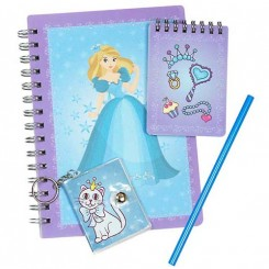 Prinsessesæt m. notesbøger