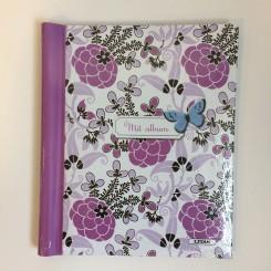 Glansbilledalbum blomster lilla