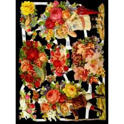 Glansbilleder blomsterbørn / 3-7185