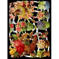 Glansbilleder blomster / 3-7186