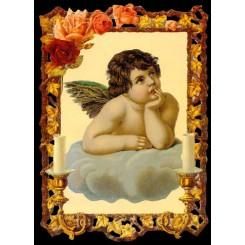 Glansbilleder stor engel / 3-7203