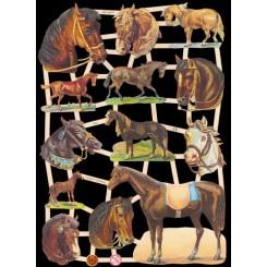 Glansbilleder heste / 3-7302