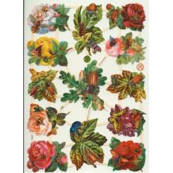 Glansbilleder blomster / 3-7338