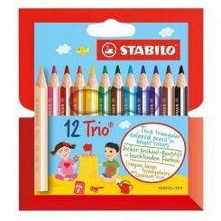 Stabilo farveblyanter TRIO 12 stk.