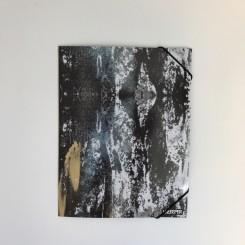 Elastikmappe A4 - sort bark