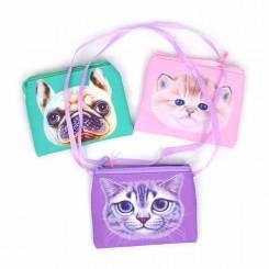 Taske med skulderstrop og dyremotiv