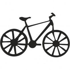 Kartonmærkat - cykel - 10 stk.