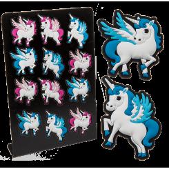 Magnet - Enhjørning/unicorn - lyseblå