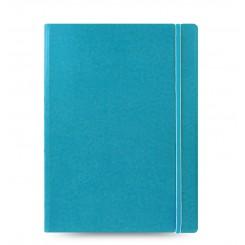Filofax Notesbog læderlook - A4 - auqa