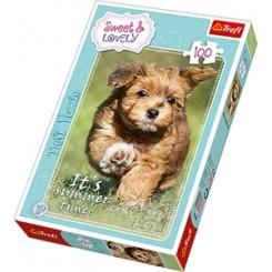 Puslespil Sweet&Lovely - hund, 100 brikker