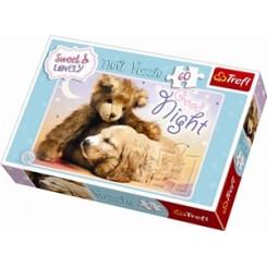 Puslespil Sweet&Lovely - bamse & hund, 60 brikker