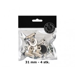 Bulldog magnet - sølv