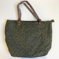 Shopper grøn grafisk mønster