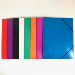 Elastikmappe A4 - Flere farver