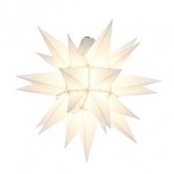 UDSOLGT - Adventsstjerne, plast, 40 cm, usamlet, hvid (Kan bruges udendørs)