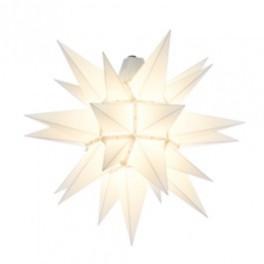 Adventsstjerne, plast, 40 cm, usamlet, hvid (Kan bruges udendørs)