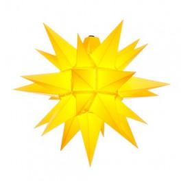Adventsstjerne, plast, 40 cm, usamlet, gul (Kan bruges udendørs)