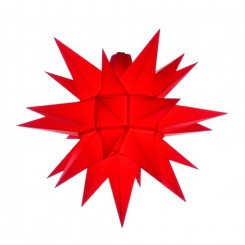 Adventsstjerne, plast, 40 cm, usamlet, rød (Kan bruges udendørs)