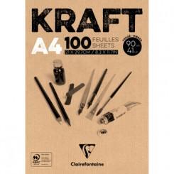 Kraft - tegnepapir A4