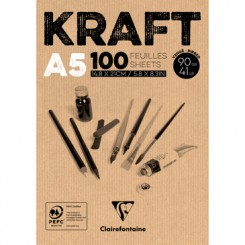 Kraft - tegnepapir A5