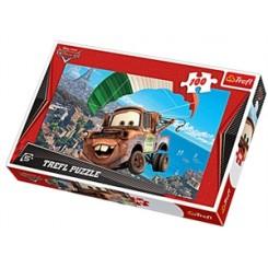 Puslespil Cars, flying Mater, 100 brikker