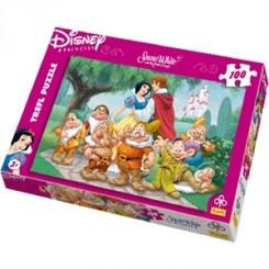 Puslespil Disney Snehvide og de 7 små dværge, 100 brikker