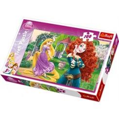 Puslespil Disney Pugnacious prinsesser, 100 brikker