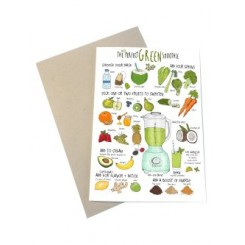Mouse & Pen kort A6 - Green Smoothie