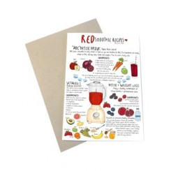 Mouse & Pen kort A6 - Red Smoothie