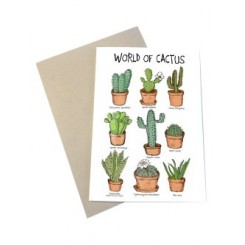 Mouse & Pen kort A6 - World of Cactus