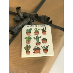 Mouse & Pen kort A7 - World of Cactus