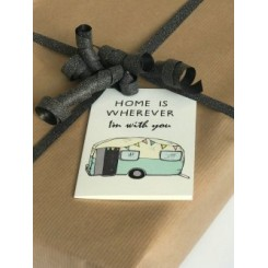 Mouse & Pen kort A7 - Home is wherever I'm with you - Camping