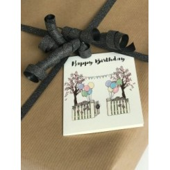 Mouse & Pen kort A7 - Happy Birthday