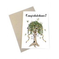 Mouse & Pen kort A6 - Congratulations