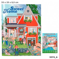 Create your Sweet Home Aktivitetsbog m/ stickers