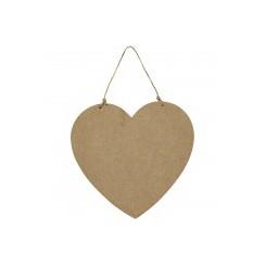 Hjerte dørskilt, MDF, str. 18,5x19,5 cm