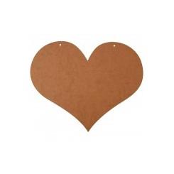 Hjerte, MDF str. 50x40 cm
