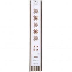 Stjernestrimler, B: 15+25 mm, kobber, glitter og lak, 40 ass., L: 44+86 cm
