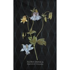 Økologisk viskestykke - Motiv fra det botaniske værk Flora Danica - Akeleje