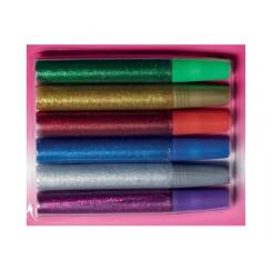 Glitter glue 10ML 6 farver