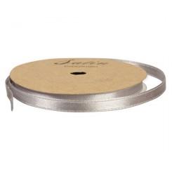 Satinbånd 10MM, 10M, Grå/sølv