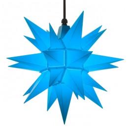 Adventsstjerne, plast, 40 cm, usamlet, blå (Kan bruges udendørs)