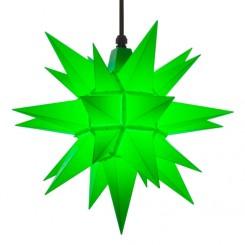 Adventsstjerne, plast, 40 cm, usamlet, grøn (Kan bruges udendørs)