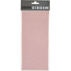 Silkepapir Hvid m. prikker