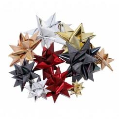 Stjernestrimler rød metallic & glimmer